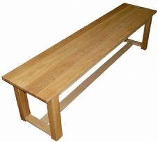 Handmade Solid Oak Dining Table Bench/Seat - 180cm